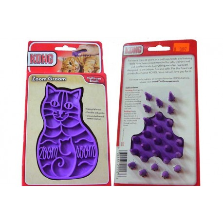 Brosse ZOOM GROOM Souple pour Chat (KONG)