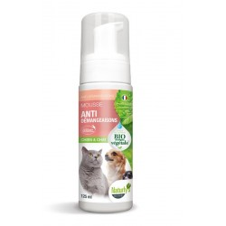 NATURLY'S OCTAVE Shampoing Mousse Anti Démangeaisons Chien et Chat Tea Tree 140ml