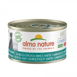 ALMO NATURE HFC Complete Made in Italy AGNEAU avec courgettes et aneth pour Chien boîte 95gr