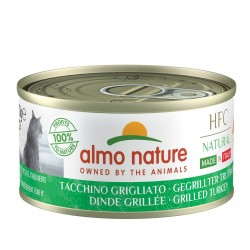 ALMO NATURE HFC Natural Made in Italy DINDE grillée pour Chat boîte 70gr