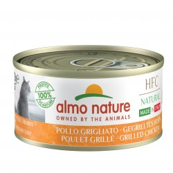 ALMO NATURE HFC Natural Made in Italy POULET grillé pour Chat boîte 70gr