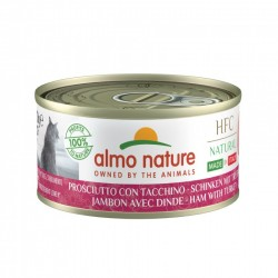 ALMO NATURE HFC Natural Made in Italy JAMBON AVEC DINDE pour Chat boîte 70gr