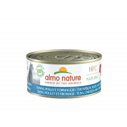 ALMO NATURE HFC Natural Chat, Thon Poulet Fromage 70gr